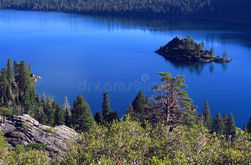 Baia dello smeraldo del Lake Tahoe fotografia stock
