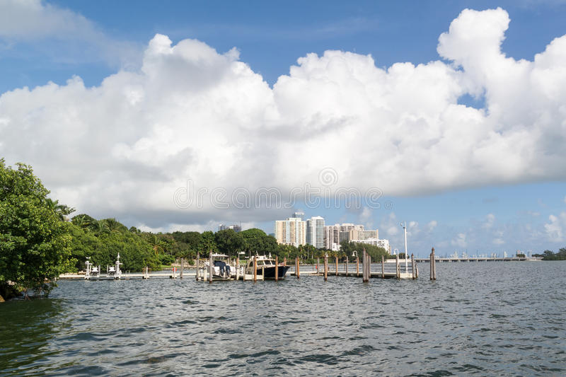 Baia di Biscayne a Miami, Florida fotografie stock libere da diritti