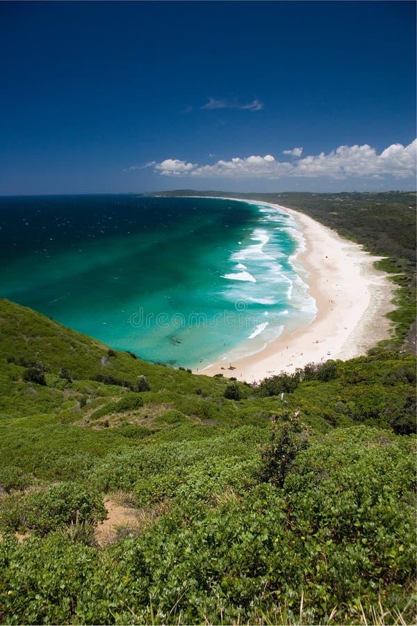 Baia di Byron della spiaggia del sego immagini stock libere da diritti