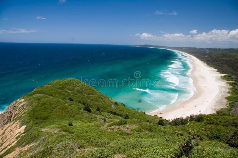 Baia di Byron della spiaggia del sego immagini stock