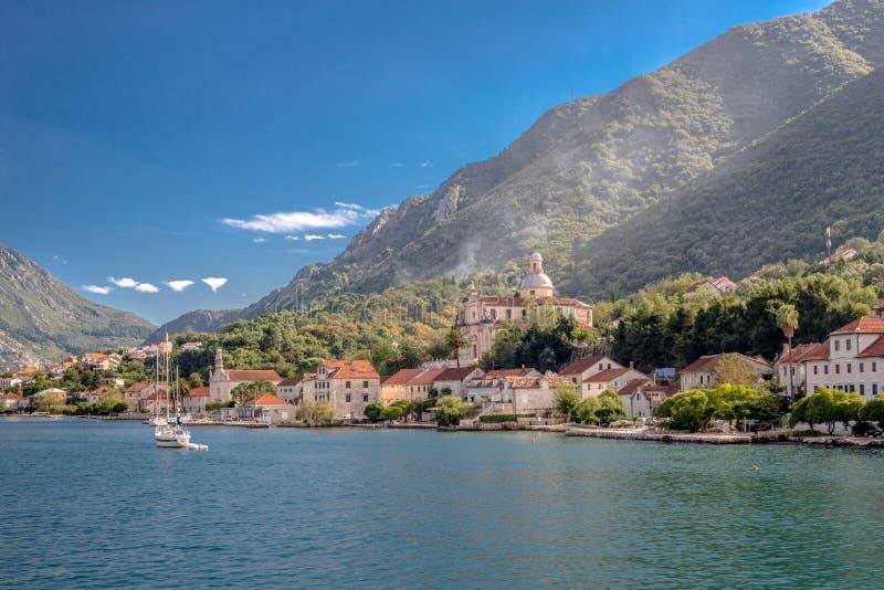 Baia di Cattaro nel Montenegro fotografie stock libere da diritti