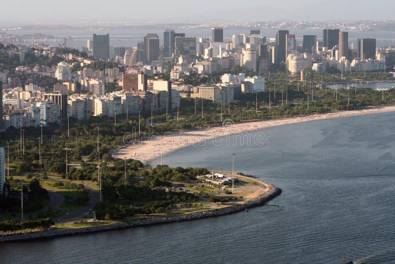 Baia di Flamengo a Rio de Janeiro fotografia stock