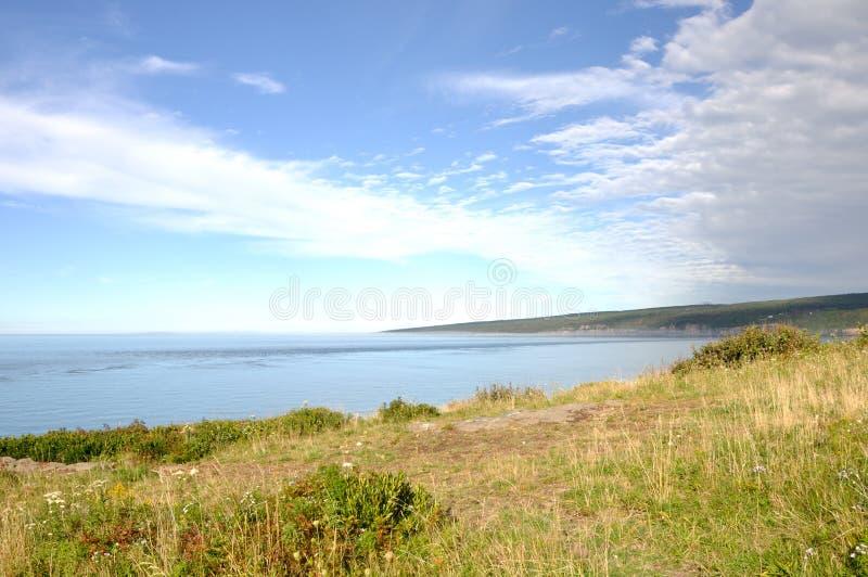 Baia di Fundy dal lato di Digby fotografie stock