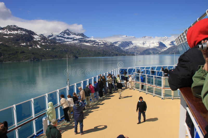 Baia di ghiacciaio piena d'ammirazione immagine stock libera da diritti
