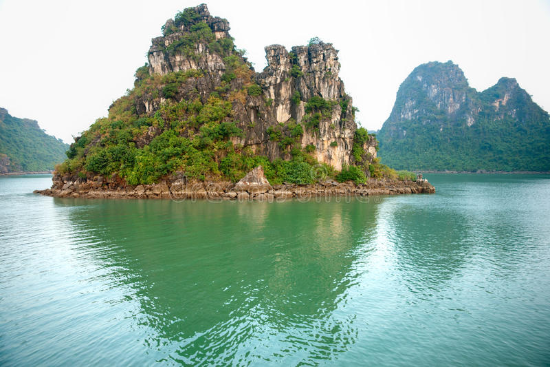 Baia di Halong, Vietnam. immagini stock libere da diritti