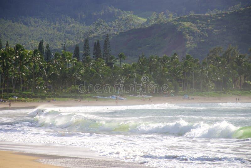 Baia di Hanalei, Kauai fotografie stock