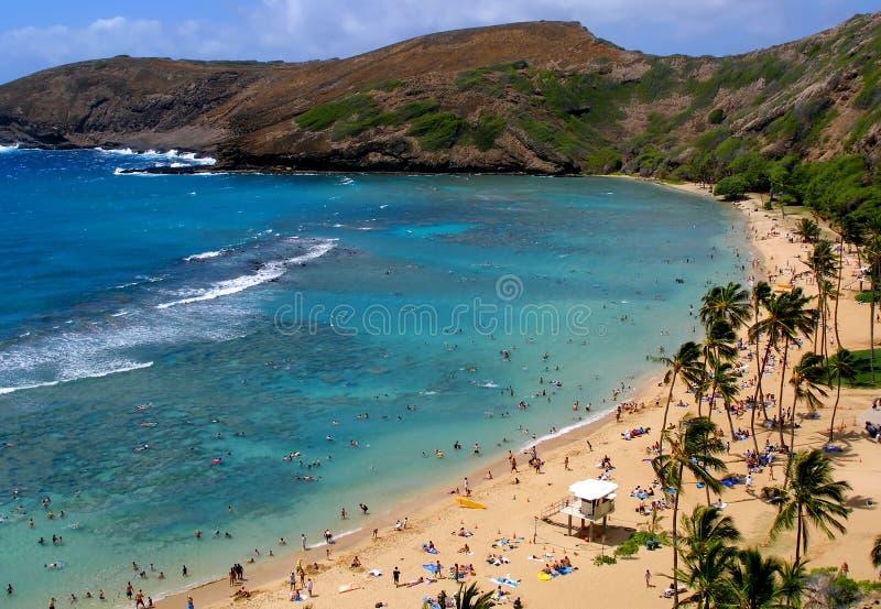 Baia di Hanauma in Hawai fotografia stock