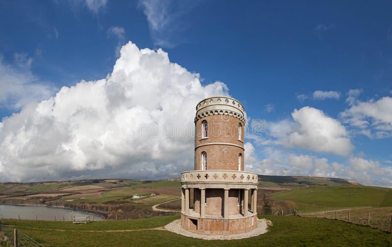 Baia di Kimmeridge e torre di Clavell fotografia stock libera da diritti