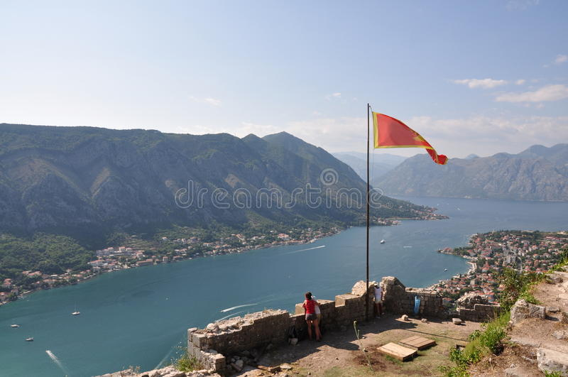 Baia di Kotor immagini stock libere da diritti