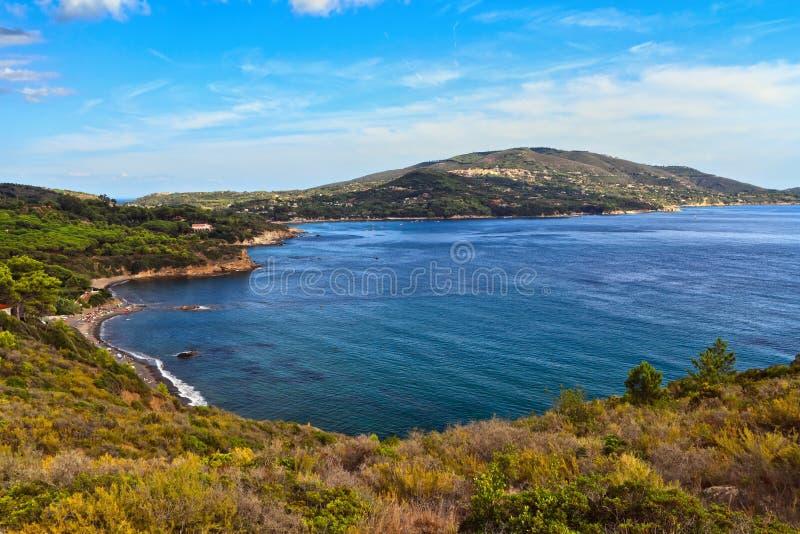 Baia di Lacona - Elba Island immagine stock libera da diritti