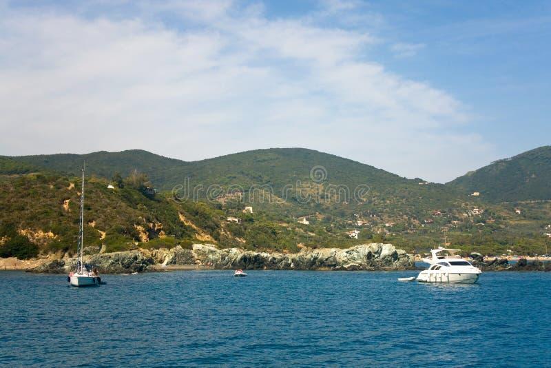 Baia di Lacona, isola dell'Elba immagini stock