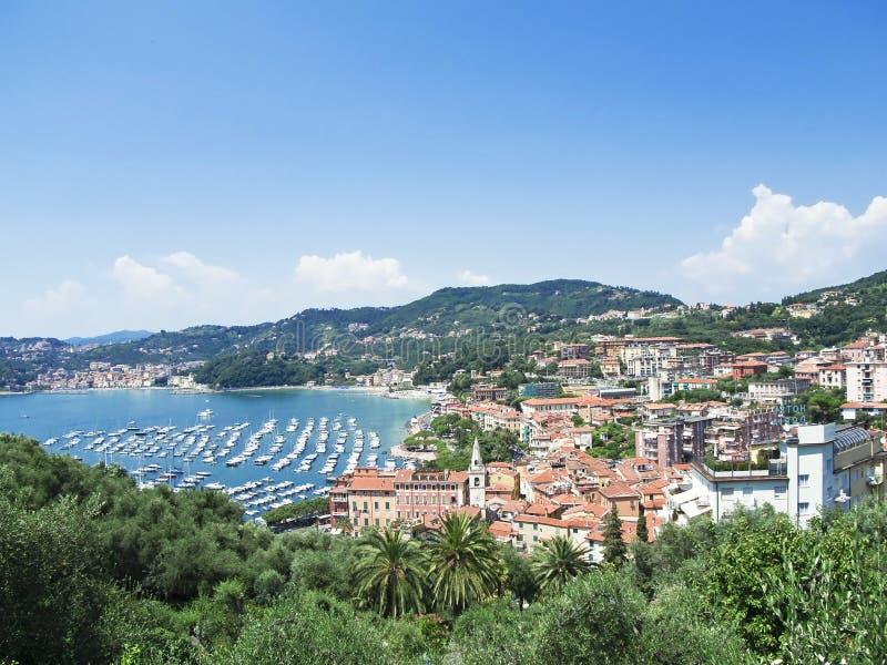 Baia di Lerici. Lerici. La Spezia. La Liguria. L'Italia. fotografia stock libera da diritti