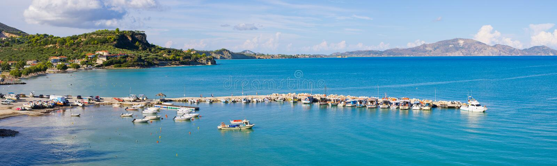 Baia di Limni Keriou, Zacinto, Grecia immagine stock