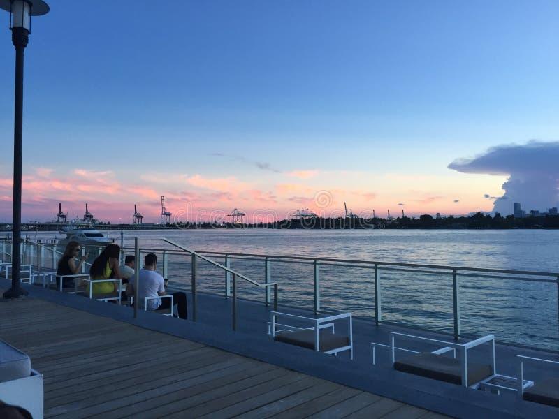 Baia di Miami fotografie stock