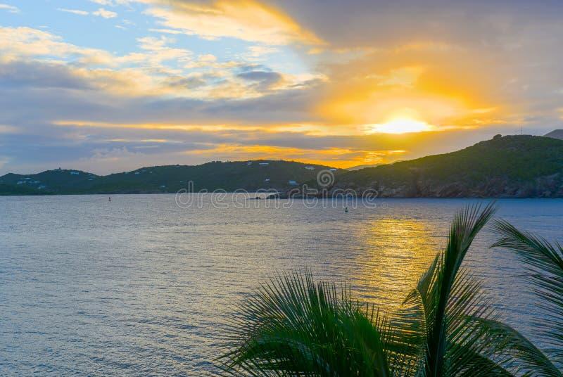 Baia di Pacquereau, St Thomas, Isole Vergini americane fotografia stock