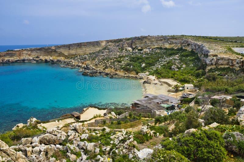 Baia di paradiso, Malta immagine stock