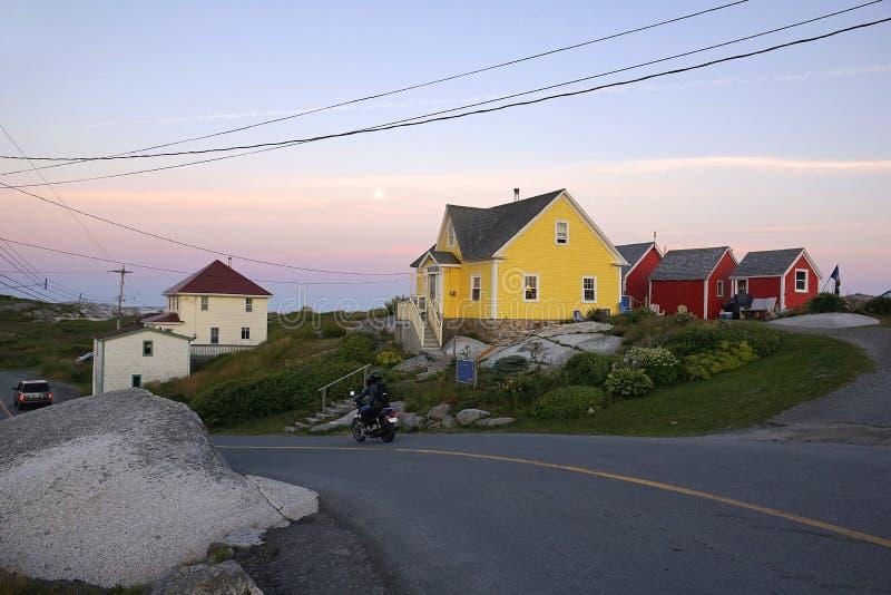Baia di Peggys, Nova Scotia fotografia stock libera da diritti