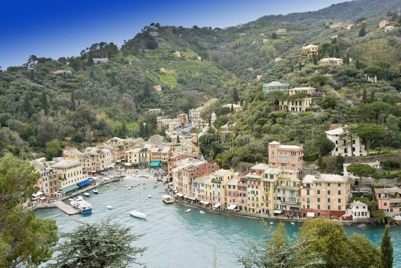 Baia di Portofino fotografie stock libere da diritti