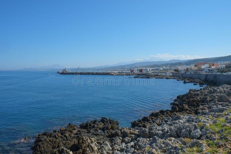 Baia di Rethymno, Creta immagine stock