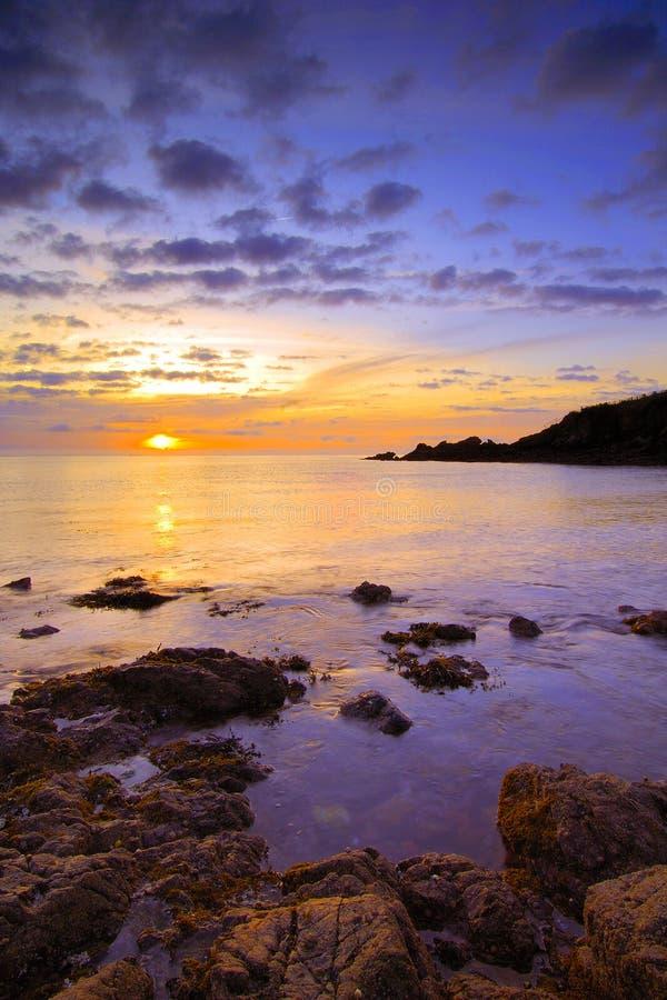 Baia di Saltern ad alba immagini stock libere da diritti