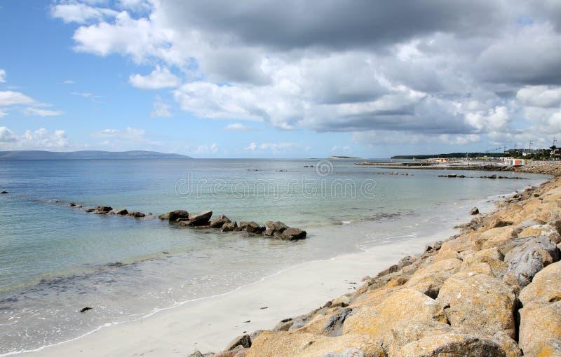 Baia di Salthill Galway, Irlanda fotografia stock libera da diritti