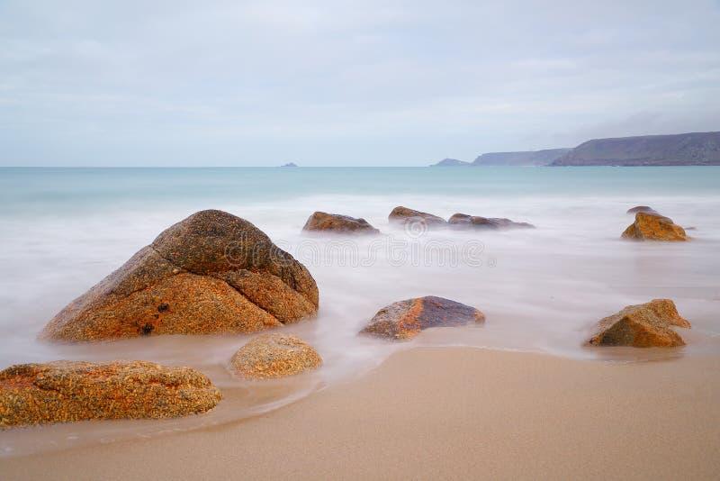 Baia di Sennen, Cornovaglia fotografia stock libera da diritti