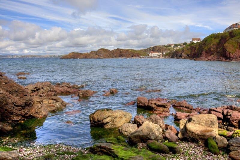 Baia di speranza, Devon, Inghilterra fotografia stock libera da diritti