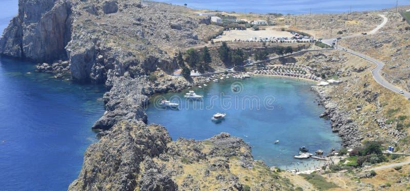Baia di StPaul, Grecia fotografia stock libera da diritti