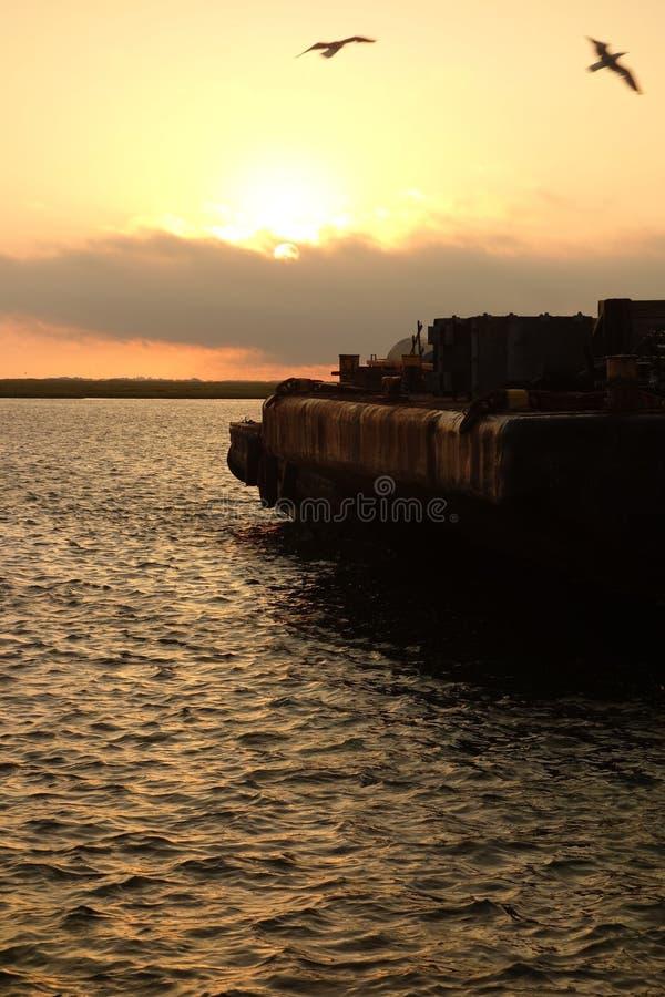 Baia di tramonto fotografia stock