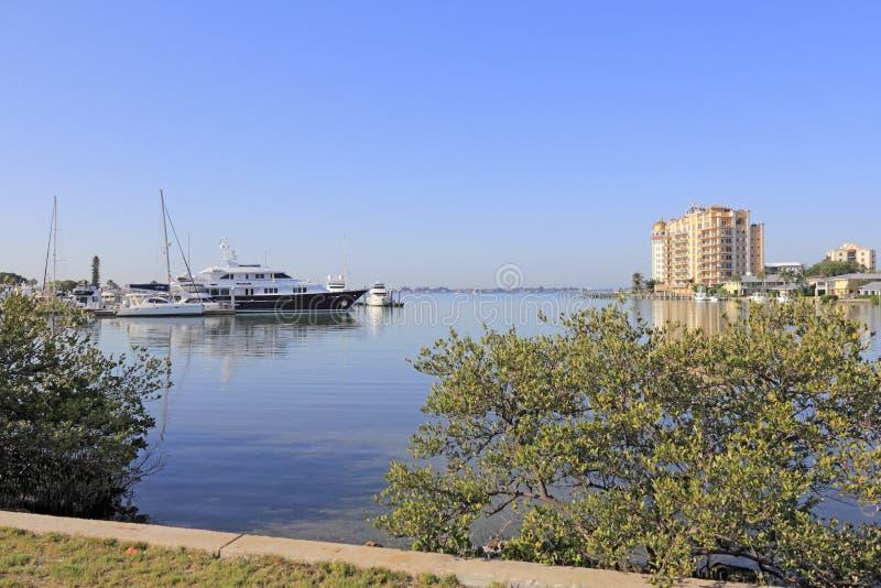 Baia elegante di Sarasota immagini stock