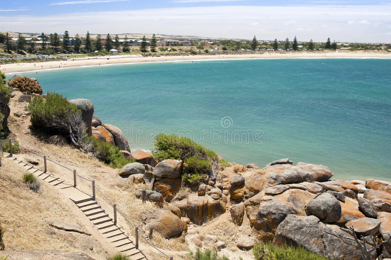 Baia a ferro di cavallo, Australia del sud immagini stock libere da diritti