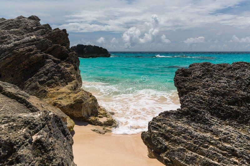 Baia a ferro di cavallo Bermude fotografie stock libere da diritti