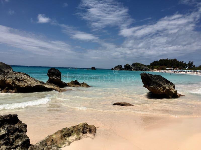 Baia a ferro di cavallo, Bermude immagini stock libere da diritti