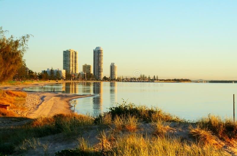 Baia Gold Coast Australia di instabilità fotografie stock