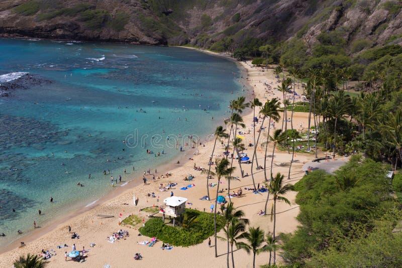 Baia Hawai di Hanauma fotografie stock libere da diritti