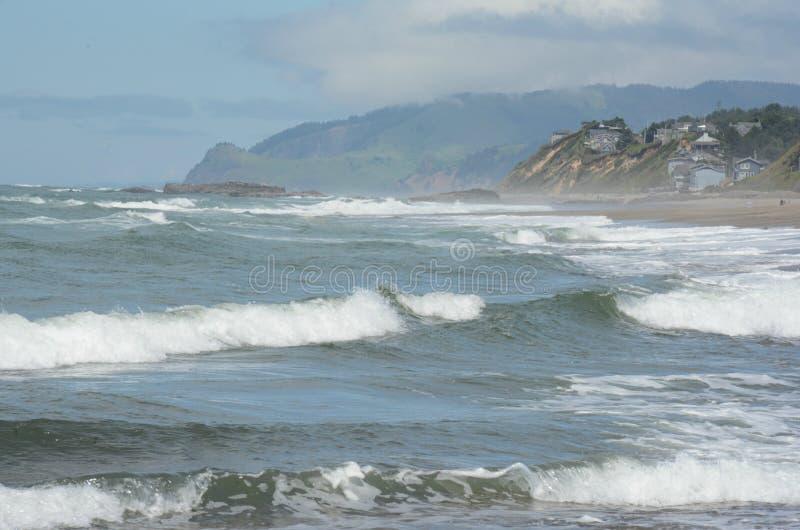 Baia pittoresca di Siletz - costa centrale dell'Oregon immagine stock libera da diritti