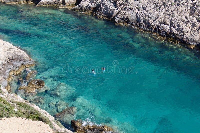 Baia in Zacinto, Grecia fotografia stock