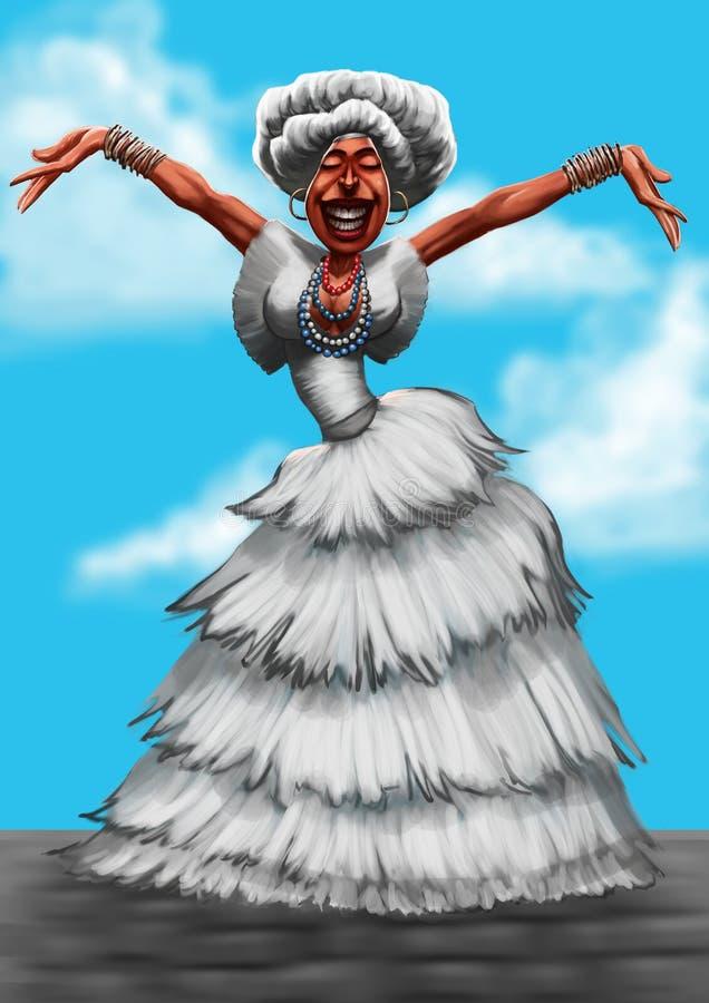 Baiana ilustração royalty free