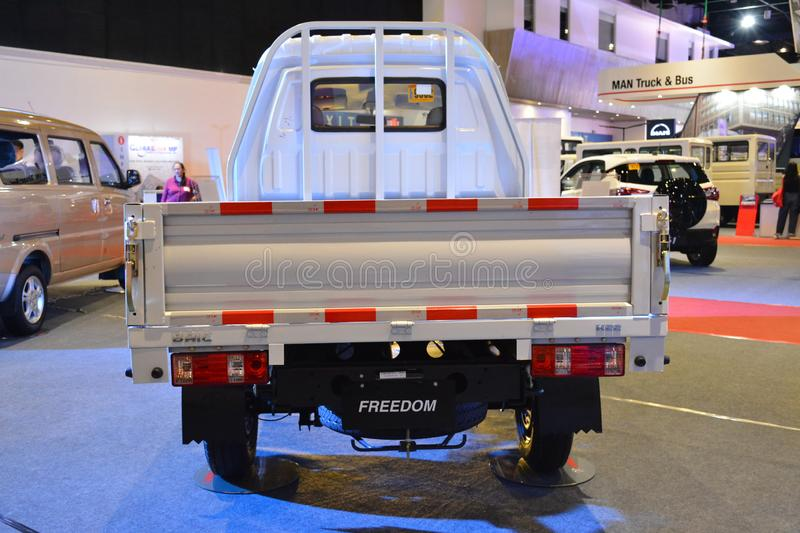 Baic Freedom pick up. PASAY, PH - AUG. 17: Baic Freedom pick up at Transport and Logistics Philippines on August 17, 2019 in World Trade Center, Pasay royalty free stock photo