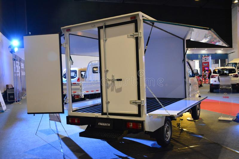 Baic Freedom wing van. PASAY, PH - AUG. 17: Baic Freedom wing van at Transport and Logistics Philippines on August 17, 2019 in World Trade Center, Pasay royalty free stock photos