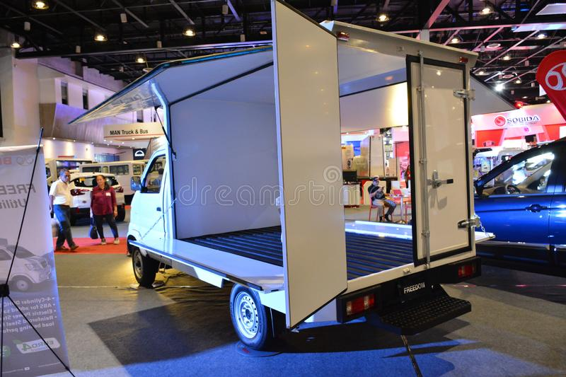 Baic Freedom wing van. PASAY, PH - AUG. 17: Baic Freedom wing van at Transport and Logistics Philippines on August 17, 2019 in World Trade Center, Pasay stock images