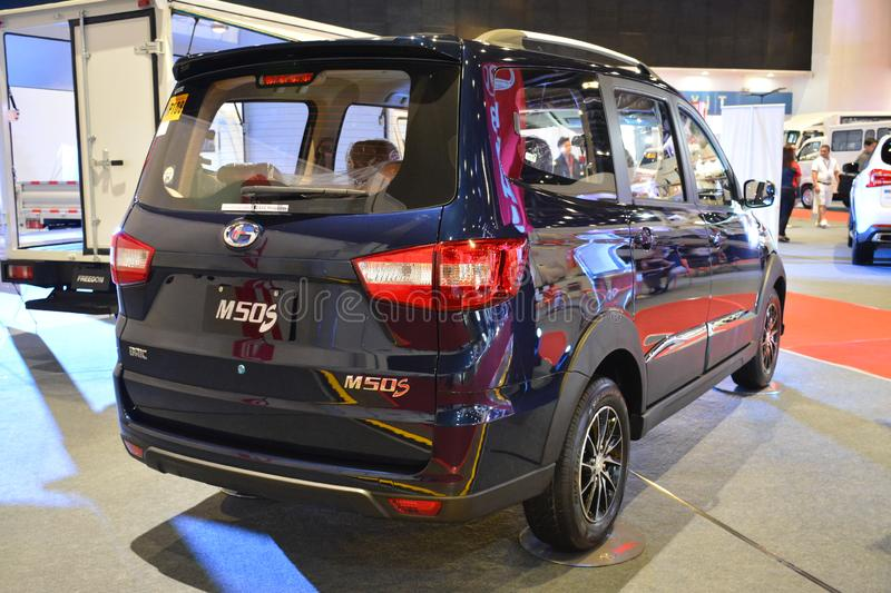 Baic M50S van. PASAY, PH - AUG. 17: Baic M50S van at Transport and Logistics Philippines on August 17, 2019 in World Trade Center, Pasay, Philippines stock photography