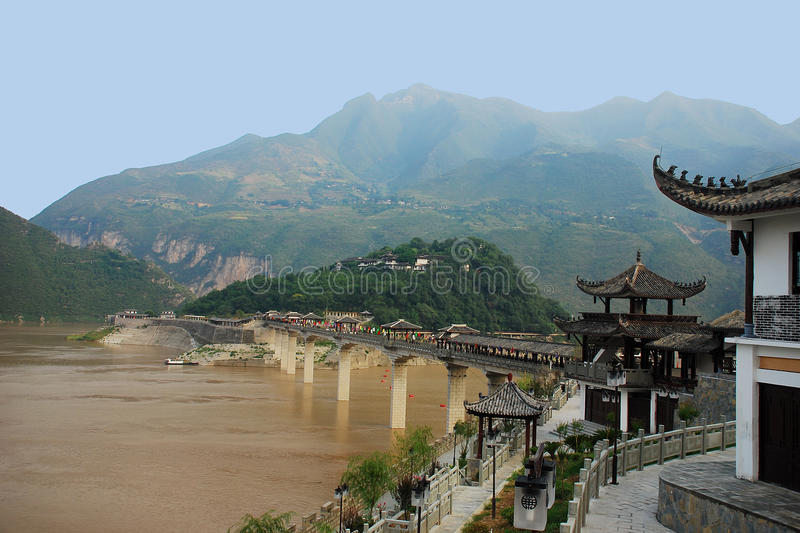 Baidicheng. Is located in the upper reaches of the Yangtze River Valley, built in the mountains, scenic natural beauty, is a tourist place royalty free stock image