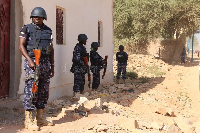 2012_12_12_Baidoa_Foot_Patrol-3 stock image