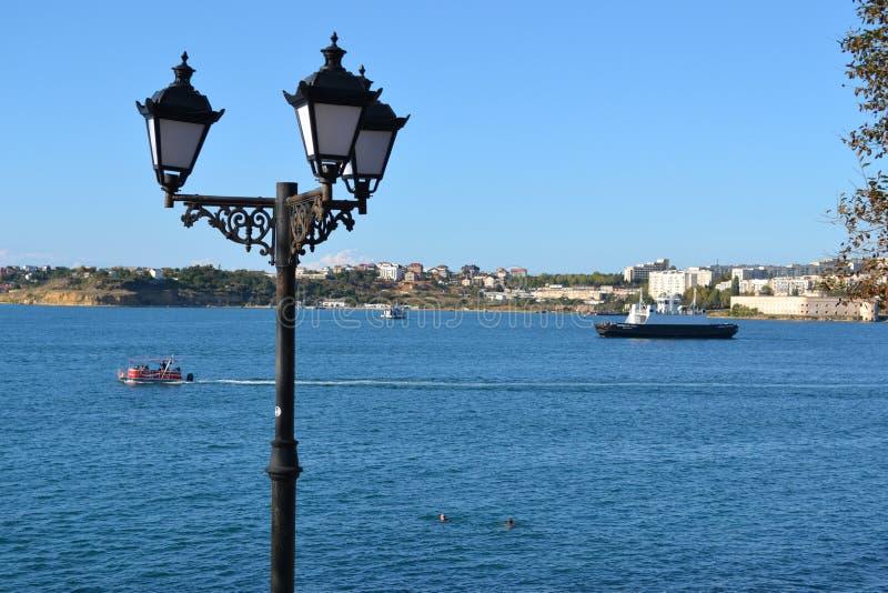 Baie à Sébastopol, Crimée photo libre de droits