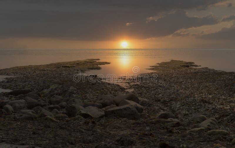 Baie BRITANNIQUE de Kimmeridge de côte de Dorset image libre de droits