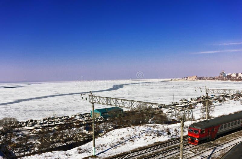 Baie dans la glace photo stock