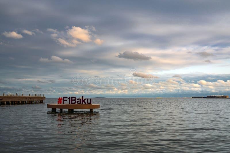 Baie de Bakou, F1 Tableau de Bakou photo stock