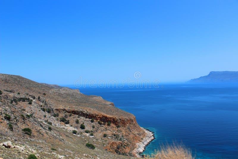 Baie de Balos sur l'île de Crète, Grèce image libre de droits