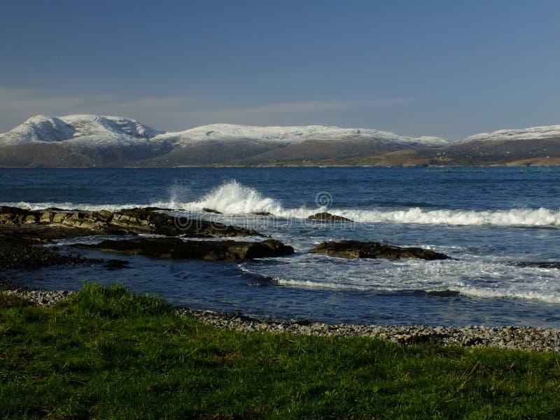 Baie de Bantry regardant vers Bearra images stock